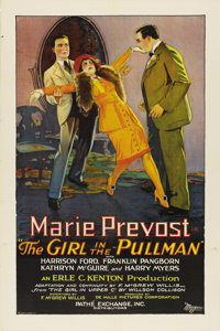 """The Girl in the Pullman (Pathé, 1927). One Sheet (27"""" X 41"""")"""