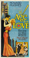 "Movie Posters:Drama, The Age for Love (United Artists, 1931). Three Sheet (41"" X81"")...."