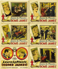 "Movie Posters:Comedy, Home James (Universal, 1928). Title Card and Lobby Cards (5) (11"" X14"").... (Total: 6 Items)"