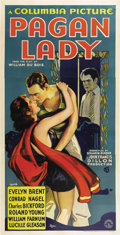 "Movie Posters:Drama, Pagan Lady (Columbia, 1931). Three Sheet (41"" X 81"")...."