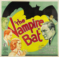 "Movie Posters:Horror, The Vampire Bat (Majestic, 1933). Six Sheet (81"" X 81"")...."
