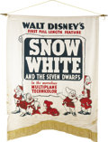 "Movie Posters:Animated, Snow White and the Seven Dwarfs (RKO, 1937). Silk Banner (37"" X48"")...."