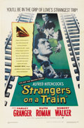 """Movie Posters:Hitchcock, Strangers on a Train (Warner Brothers, 1951). One Sheet (27"""" X41"""")...."""