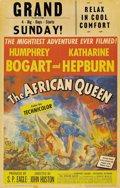 "Movie Posters:Adventure, The African Queen (United Artists, 1952). Window Card (14"" X22"")...."
