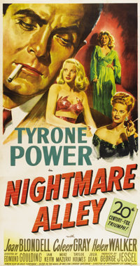 "Nightmare Alley (20th Century Fox, 1947). Three Sheet (41"" X 81"")"