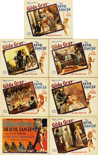 """The Devil Dancer (United Artists, 1927). Title Card and Lobby Cards (6) (11"""" X 14"""").... (Total: 7 Items)"""