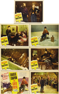 """The Gold Rush (United Artists, R-1942). Title Card and lobby Cards (6) (11"""" X 14"""").... (Total: 7 Items)"""