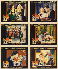 """Two Lovers (United Artists, 1928). Lobby Cards (6) (11"""" X 14"""").... (Total: 6 Items)"""