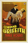 "Movie Posters:Drama, Three Hours (First National, 1927). One Sheet (27"" X 41"").Drama...."