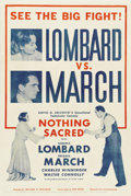 "Movie Posters:Comedy, Nothing Sacred (United Artists, 1937). One Sheet (27"" X 41"") ""FightPoster"" Style...."