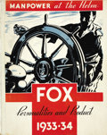 """Movie Posters:Miscellaneous, Fox Film Corporation Exhibitor's Book (Fox, 1933-1934). (11"""" X 14"""", Multiple Pages)...."""