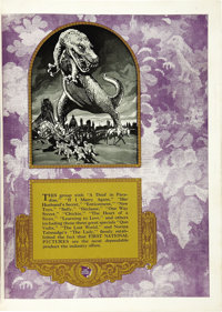 """First National Exhibitor's Book (First National, 1925-1926). Book (9"""" X 12"""", Multiple Pages)"""