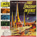 "Movie Posters:Science Fiction, First Spaceship on Venus (Crown International, 1962). Six Sheet(81"" X 81"")...."