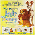"Movie Posters:Animated, Lady and the Tramp (Buena Vista, 1955). Six Sheet (81"" X 81"")...."