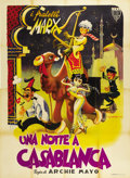 "Movie Posters:Comedy, A Night in Casablanca (United Artists, 1946). Italian 4 - Folio(55.5"" X 76"")...."