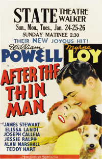 "After the Thin Man (MGM, 1936). Window Card (14"" X 22"")"