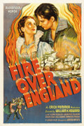 "Movie Posters:Drama, Fire Over England (London Film, 1937). One Sheet (27"" X 41"")...."