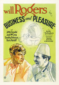 """Movie Posters:Comedy, Business and Pleasure (Fox, 1931). One Sheet (27"""" X 41"""")...."""