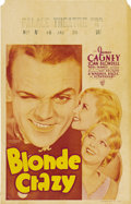 "Movie Posters:Comedy, Blonde Crazy (Warner Brothers, 1931). Window Card (14"" X 22"")...."