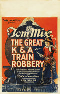 "Movie Posters:Western, The Great K & A Train Robbery (Fox, 1926). Window Card (14"" X 22""). Western.. ..."