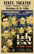 """Movie Posters:Comedy, Lady for a Day (Columbia, 1933). Window Card (14"""" X 22"""")...."""