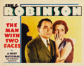"Movie Posters:Crime, The Man with Two Faces (First National, 1934). Lobby Card (11"" X14"")...."