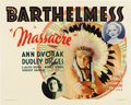 """Movie Posters:Western, Massacre (First National, 1934). Half Sheet (22"""" X 28"""")...."""