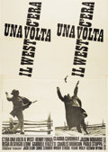 """Movie Posters:Western, Once Upon A Time in the West (Paramount, 1969). Italian 4 - Folio (55"""" X 78"""")...."""