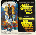 "Movie Posters:James Bond, Diamonds are Forever (United Artists, 1971). Six Sheet (81"" X81"")...."