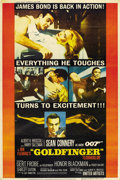 "Movie Posters:James Bond, Goldfinger (United Artists, 1964). Poster (40"" X 60"")...."