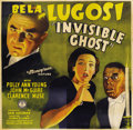 "Movie Posters:Horror, Invisible Ghost (Monogram, 1941). Six Sheet (81"" X 81"")...."