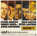 "Movie Posters:Crime, Ocean's 11 (Warner Brothers, 1960). Six Sheet (81"" X 81"")...."