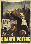 "Movie Posters:Drama, Citizen Kane (RKO, R-1960s). Italian 4 - Folio (55"" X 78"")...."