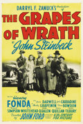 "Movie Posters:Drama, The Grapes of Wrath (20th Century Fox, 1940). One Sheet (27"" X41"")...."