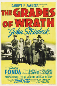 """The Grapes of Wrath (20th Century Fox, 1940). One Sheet (27"""" X 41"""")"""