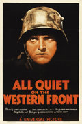 "Movie Posters:Academy Award Winner, All Quiet on the Western Front (Universal, R-1938). One Sheet (27""X 41"")...."