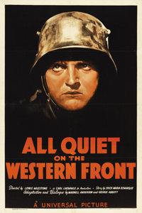 "All Quiet on the Western Front (Universal, R-1938). One Sheet (27"" X 41"")"
