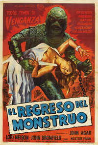 "Revenge of the Creature (Universal International, 1955). Argentinean Poster (29"" X 43"")"