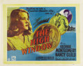 "Movie Posters:Crime, The Brasher Doubloon (20th Century Fox, 1946). British Half Sheet(22.5"" X 28"")...."