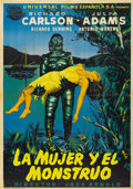 "Movie Posters:Horror, Creature from the Black Lagoon (Universal International, 1954).Spanish One Sheet (27.5"" X 39"")...."