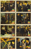 "Movie Posters:Mystery, Charlie Chan in City in Darkness (20th Century Fox, 1939). LobbyCard Set of 8 (11"" X 14"").... (Total: 8 Items)"