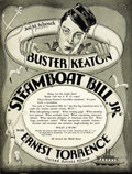"Movie Posters:Comedy, Steamboat Bill, Jr. (United Artists, 1928). Pressbook (9.5"" X12.5"", Multiple Pages)...."