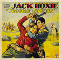 "Movie Posters:Western, Trouble Busters (Majestic, 1933). Six Sheet (81"" X 81"")...."