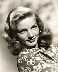 "Lauren Bacall Publicity Still by E. R. Richee (Warner Brothers, 1940s). Still (7.5"" X 9.5"")"