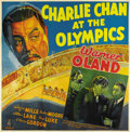 """Movie Posters:Mystery, Charlie Chan at the Olympics (20th Century Fox, 1937). Six Sheet (81"""" X 81"""")...."""