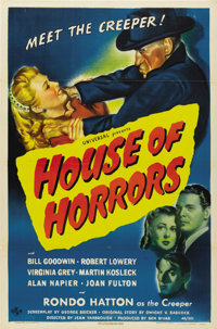"""House of Horrors (Universal, 1946). One Sheet (27"""" X 41"""")"""