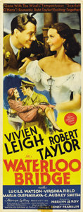 "Movie Posters:Drama, Waterloo Bridge (MGM, 1940). Insert (14"" X 36"")...."