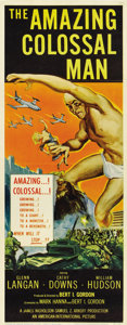 "Movie Posters:Science Fiction, The Amazing Colossal Man (American International, 1957). Insert(14"" X 36"")...."