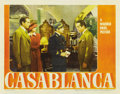 "Movie Posters:Drama, Casablanca (Warner Brothers, 1942). Lobby Card (11"" X 14"")...."