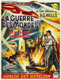 "Movie Posters:Science Fiction, The War of the Worlds (Paramount, 1953). Belgian (13.75"" X 18"")...."